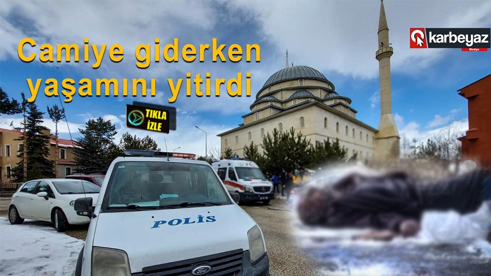 Erzurum'da yaşlı adam cami yolunda hayatını kaybetti