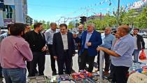 Başkanlar, Palandöken'de pazar esnafıyla buluştu