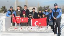 Erzurum TDP Şube personeli şehit meslektaşını unutmadı