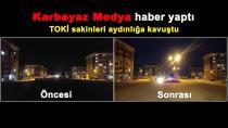 Yıldızkent TOKİ sakinleri aylardır karanlıktaydı