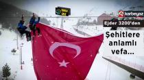 Palandöken Kayak Tesisleri'ne dev Türk bayrağı asıldı