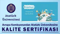 Avrupa Komisyonundan Atatürk Üniversitesine Kalite Sertifikası